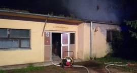 Pożar nieużytkowanego warsztatu szkolnego przy Zespole Szkół Powiatowych w Przasnyszu