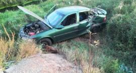 Wypadek samochodu osobowego w miejscowości Ulatowo-Pogorzel