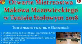 Otwarte Mistrzostwa Makowa Mazowieckiego w tenisie stołowym - zaproszenie