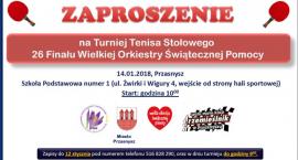 Turniej Tenisa Stołowego - zaproszenie