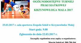 Krzynowłoga Mała: Turniej Piłki Siatkowej - zaproszenie