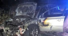 W Sierakowie spłonęło Renault Megane