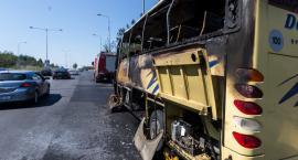 Pożar autobusu w miejscowości Romany Sebory