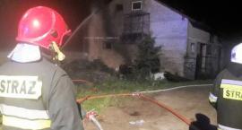 Pożar budynku mieszkalno-gospodarczego w miejscowości Łoje