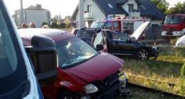 Wypadek na skrzyżowaniu ulic w Przasnyszu