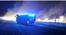 Zerwana linia energetyczna przyczyną pożaru w Krasnem