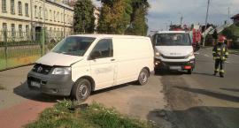 Kolizja dwóch samochodów dostawczych w Przasnyszu [Aktualizacja]