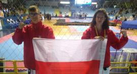 Julia Ślubowska i Kacper Suchowiecki  V-ce Mistrzami Świata w Taekwon-do