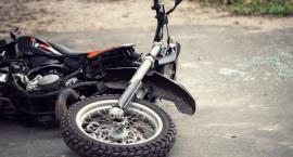 Chorzele: Poważny wypadek motocyklisty