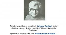 dr Łukasz Garbal autor dwutomowego dzieła spotka się z mieszkańcami