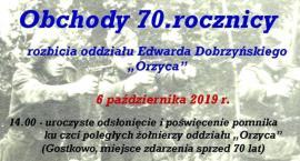 Obchody 70 - lecia rozbicia Oddziału Edwarda Dobrzyńskiego