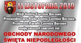 Obchody Święta Niepodległości w Czernicach Borowych - zaproszenie
