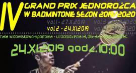 IV Grand Prix Jednorożca w Badmintonie - zaproszenie na drugi turniej