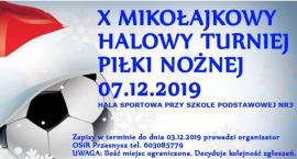 Mikołajkowy Halowy Turniej Piłki Nożnej - zaproszenie