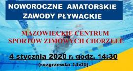 Noworoczne amatorskie zawody pływackie w Chorzelach - zaproszenie