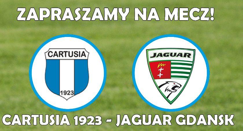 Piłka nożna, Cartusia Kartuzy Jaguar Gdańsk - zdjęcie, fotografia