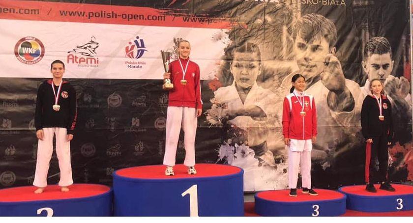 Sporty walki, Karatecy Gokkenu medalami Polish Grand - zdjęcie, fotografia