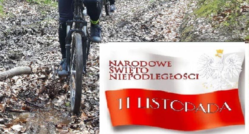 Kolarstwo, Rowerowe Kaszuby zapraszają rowerowy flagą - zdjęcie, fotografia