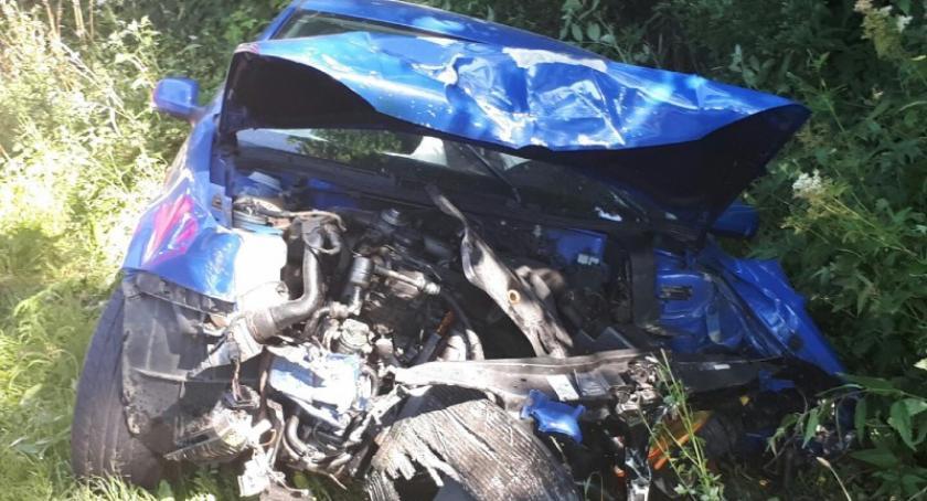 Wypadki, Staniszewo Zderzenie trzech pojazdów pięć osób rannych akcji - zdjęcie, fotografia
