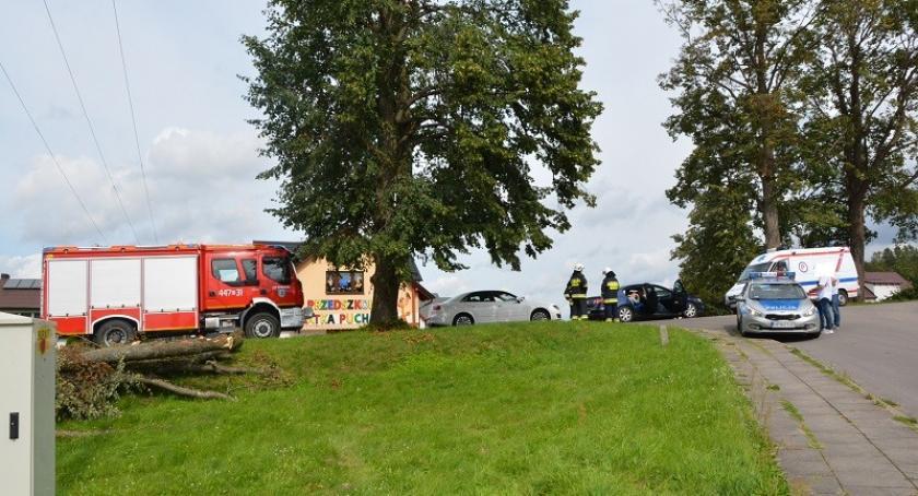 Wypadki, Gowidlino najechał Passata - zdjęcie, fotografia