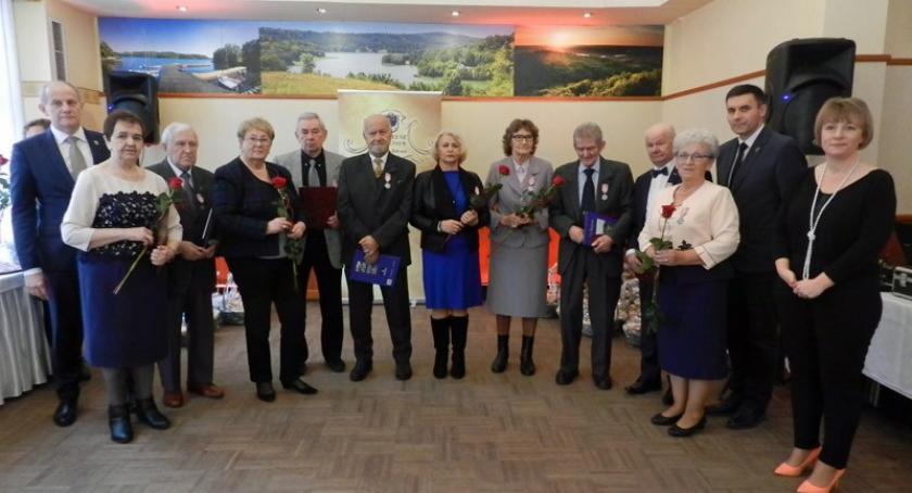 Seniorzy, Żukowo Pół wieku wspólnego pożycia małżeńskiego medal - zdjęcie, fotografia