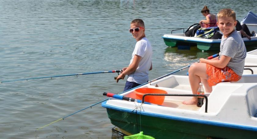 Wędkarstwo, Ostrzyce Wędkarska rywalizacja niespodziankami okazji Dziecka - zdjęcie, fotografia