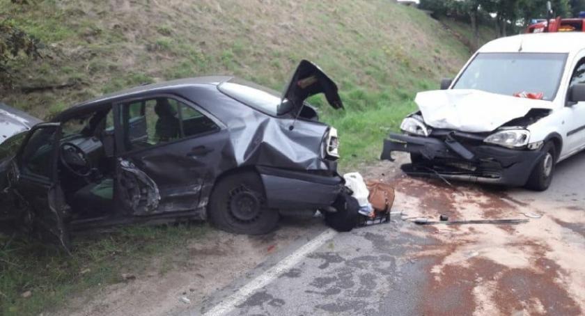 Wypadki, osoby ranne wypadku Wygodzie Sierakowskiej - zdjęcie, fotografia