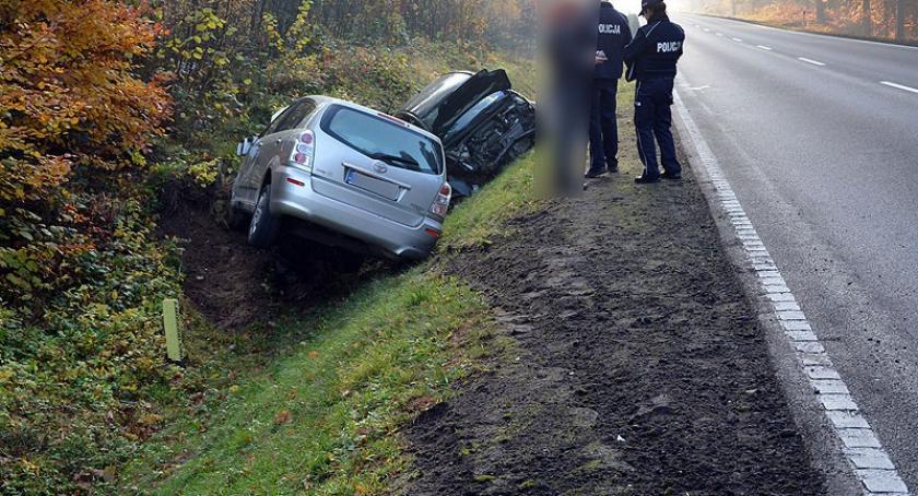 Wypadki, Zderzenie dwóch Hopowie jedna osoba szpitalu - zdjęcie, fotografia
