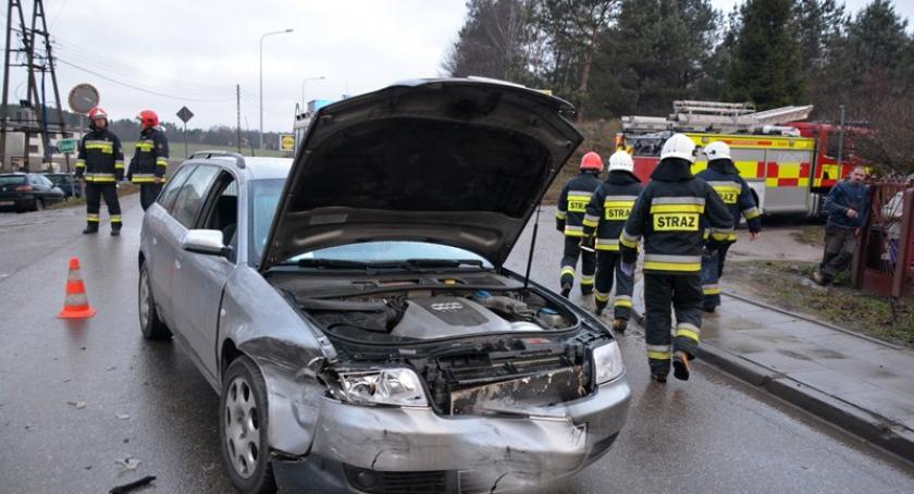 Wypadki, Rębiechowo Zderzenie dwóch pojazdów akcji - zdjęcie, fotografia