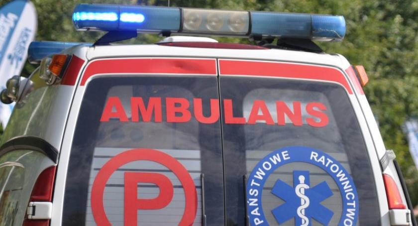 Wypadki, Jedna osoba ranna wypadku Kosach - zdjęcie, fotografia