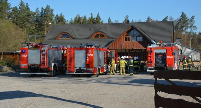 Pożary, Pożar restauracji Babim - zdjęcie, fotografia