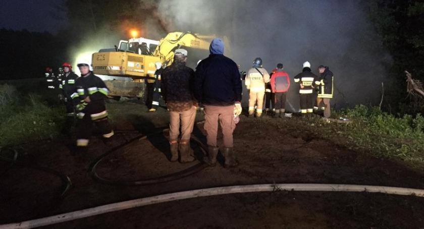 Pożary, Płonęło dzikie wysypisko śmieci - zdjęcie, fotografia