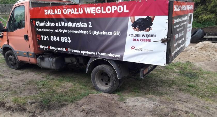 Biznes i finanse, skład opału Węglopol Chmielnie węgiel polskich kopalni - zdjęcie, fotografia