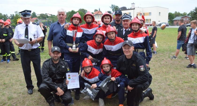 Straż pożarna, Strażacy gminy Sulęczyno rywalizowali sporcie pożarniczym - zdjęcie, fotografia