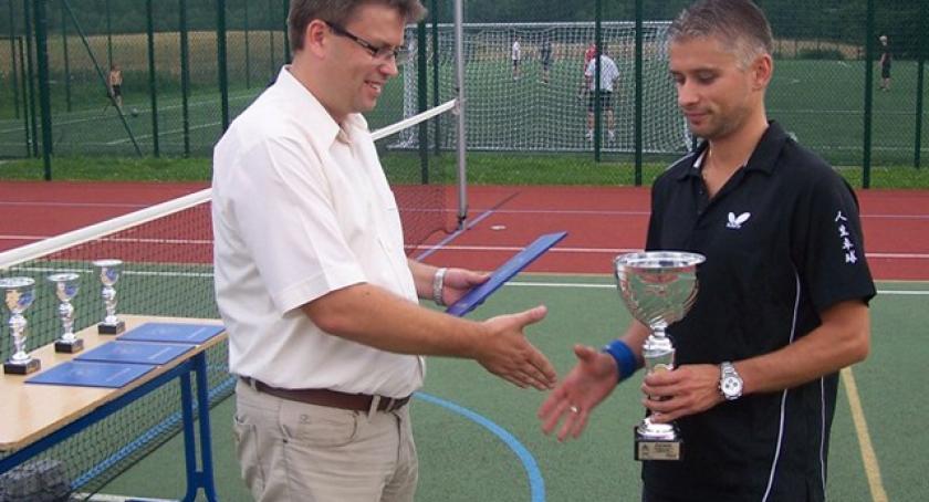 Tenis, Paweł Michna najlepszy Turnieju Tenisa Ziemnego Puchar Burmistrza Kartuz - zdjęcie, fotografia