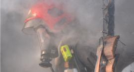 Pożar pustostanu w Kartuzach