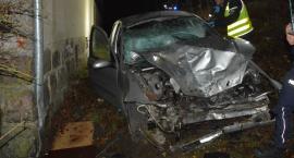 Borucino. Ford wypadł z trasy i uderzył w stodołę - cztery osoby w szpitalu