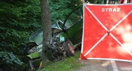 Śmiertelny wypadek na trasie Kartuzy-Sierakowice. Nie żyje 64-letni mężczyzna
