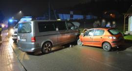 Zderzenie trzech aut w Somoninie - sprawca wypadku pijany