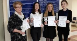 Sukces uczennic Technikum Ekonomicznego w konkursie wiedzy o finansach i rachunkowości