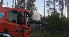 Pożar domku letniskowego w Kamienicy Królewskiej