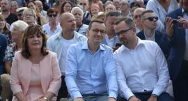 Premier Mateusz Morawiecki na rodzinnym pikniku w Stężycy