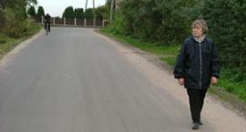 Asfalt na drodze w Widlinie