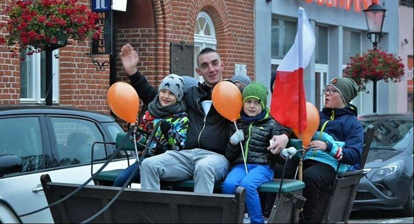 Uroczystości patriotyczne, okazji Święta Niepodległości Kościerzynie - zdjęcie, fotografia