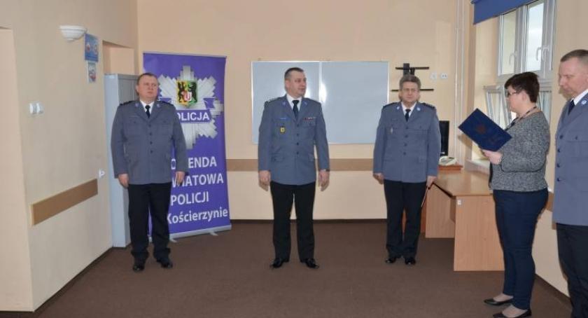 Policja, Marcin Piotrzkowski oficjalnie czele kościerskiej Policji - zdjęcie, fotografia