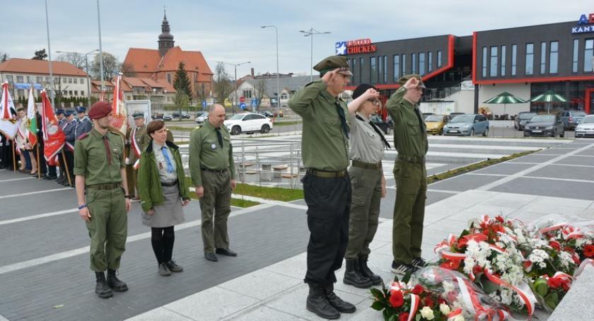 Uroczystości patriotyczne, Kościerzyna Uczcili rocznicę uchwalenia Konstytucji - zdjęcie, fotografia