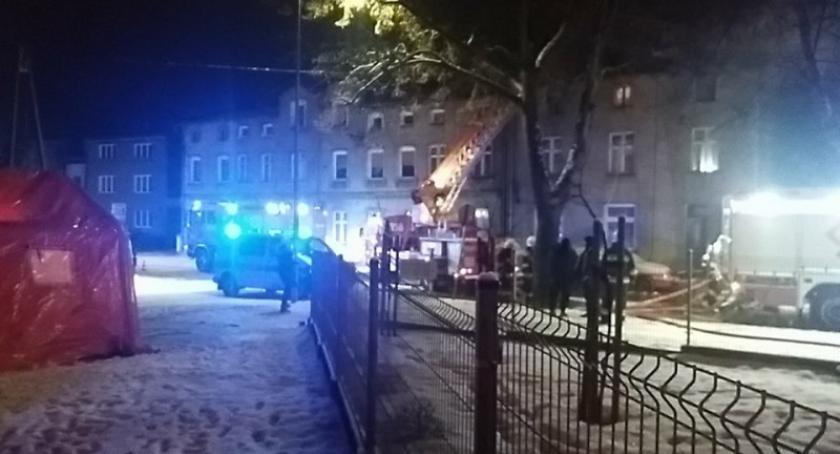 Pożary, Kościerzyna Pożar kamienicy Marca - zdjęcie, fotografia