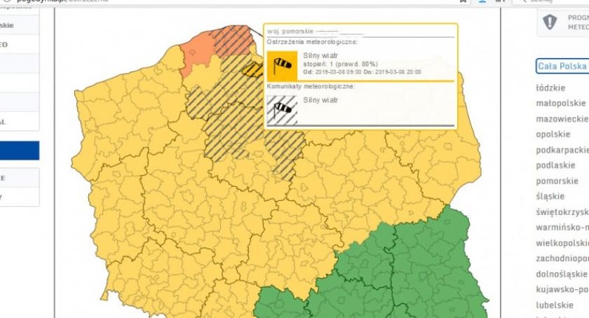 Ostrzeżenia pogodowe, Wichury Kaszubach wydano ostrzeżenie przed silnym wiatrem - zdjęcie, fotografia
