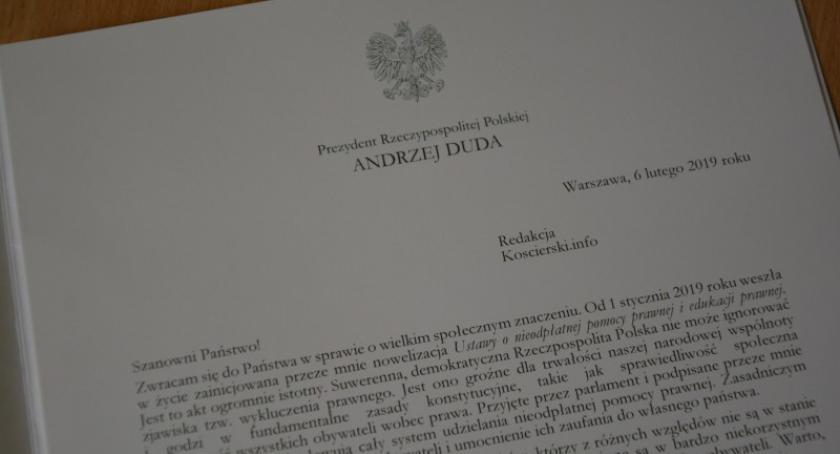 Prawo, Prezydent Andrzej darmowej pomocy prawnej - zdjęcie, fotografia