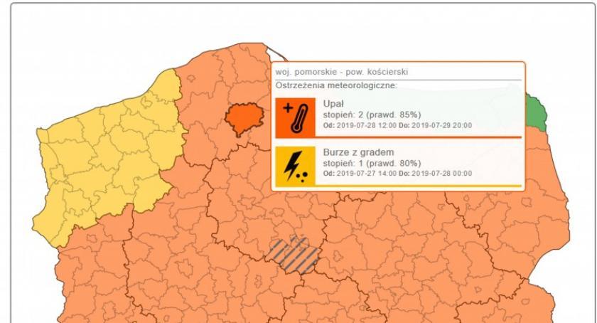 Ostrzeżenia pogodowe, Wydano ostrzeżenia przed burzami ulewami - zdjęcie, fotografia
